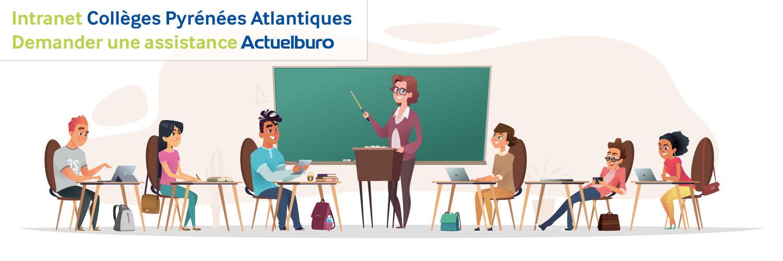 Intranet assistance Collèges Pyrénées Atlantiques
