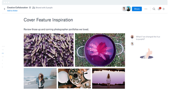 Dropbox Paper avec Dropbox business