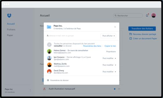 Dropbox Business, outil de partage et stockage de fichiers