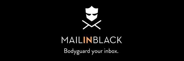 Logo Mail in black avec fond noir