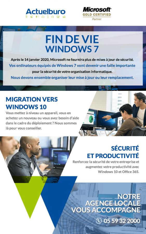Fin de vie Windows 7 : Actuelburo vous accompagne