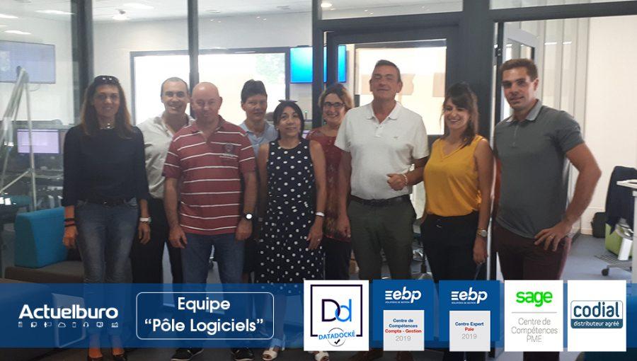 Equipe dédiée aux logiciels EBP SAGE CODIAL