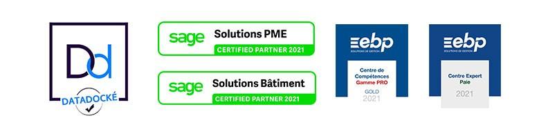 Certification de l'équipe logiciels sur les gammes SAGE et EBP